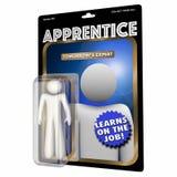 Principiante Job Skills Education Action Figure 3d del trabajador del aprendiz Fotografía de archivo