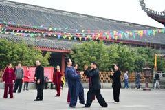 Principiantes de Taijiquan do chinês fotos de stock royalty free