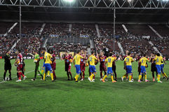 Principio del emparejamiento de fútbol Foto de archivo