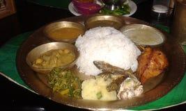 Principio del gusto la comida local de Assam Imágenes de archivo libres de regalías