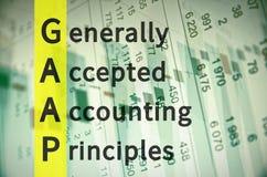 Principios de contabilidad generalmente aceptados ilustración del vector