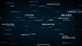 Principios de negocio de las palabras claves azules libre illustration