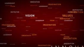 Principios de negocio de las palabras claves rojos ilustración del vector