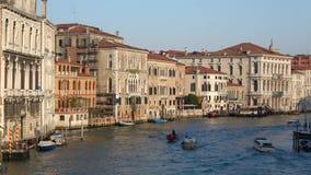 A principios de septiembre mañana en el Gran Canal Venecia, Italia almacen de metraje de vídeo