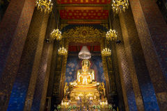 Principle Buddha image in a temple Buddhism temple,Thailand. Amazing Buddhism temple,Bangkok,Thailand Royalty Free Stock Image