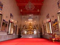 The principle buddha image at wat dam samrong temple.  stock photo