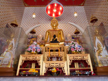 The principle buddha image at wat dam samrong temple Stock Photos