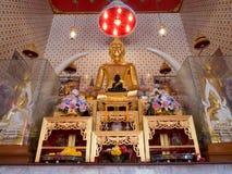 The principle buddha image at wat dam samrong temple.  stock photos