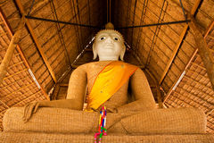 Principle buddha image weave with bamboo. The biggest weave with bamboo Buddha image, Public Domain,coatting by local resin,located at the northern of Thailand Stock Photos