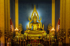 Principle buddha at wat Benchamabophit  in Thailand Royalty Free Stock Images