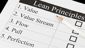 The Principles of Lean Thinking Royalty Free Stock Photos