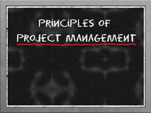 Principles of  project management Stock Images