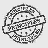 Principles rubber stamp isolated on white.