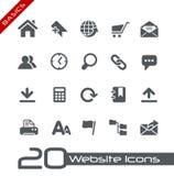 Princípios de // dos ícones do Web site Fotos de Stock