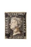 Priner foka Hiszpania, Isabel II, 1850 Zdjęcia Royalty Free