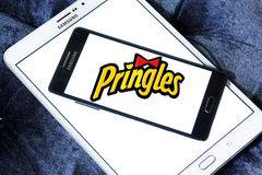 Pringles bricht Logo ab Stockfotografie