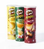 Pringles es una marca de microprocesadores del bocado de la patata Fotografía de archivo