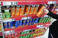Pringlesspaanders royalty-vrije stock afbeeldingen