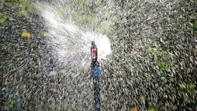 Pringer, spin the water in the garden stock photos