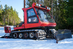 Prinoth pist machine T22. This is a snow grooming machine used to prepare some of the ski tracks that are in Halden. Machines like this is commonly called Royalty Free Stock Images