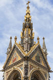 Prins Albert Memorial, dekorativa detaljer, Kensington trädgårdar, London, Förenade kungariket Arkivbild