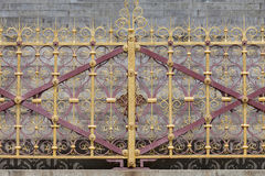 Prins Albert Memorial, dekorativt staket, Kensington trädgårdar, London, Förenade kungariket royaltyfri foto