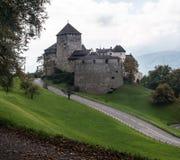 Prins Castle i Vaduz Arkivbild