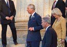 Prins Charles med Camilla, hertiginna av Cornwall Arkivbilder