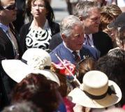 Prins Charles Saint John Walkabout Royalty-vrije Stock Afbeeldingen