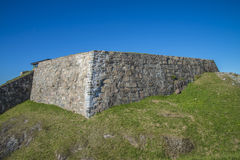 Prins christians bastion at fredriksten fortress, north side Royalty Free Stock Images