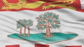 Prins Edward Island City Flag, Canada, Close-upmening royalty-vrije illustratie