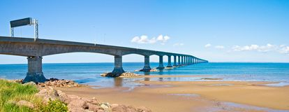 Prins Edward Island Confederation Bridge Royaltyfri Foto