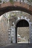 Prins Edwards Gate i Gibraltar Arkivbilder