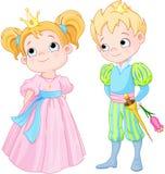 Prins en prinses Royalty-vrije Stock Afbeeldingen