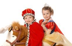 Prins en prinses stock afbeelding