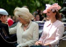 Prins Harry The Duchess av Cornwall & hertiginnan av Cambridge Arkivfoton