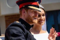 Prins Harry en Meghan Markle-huwelijk royalty-vrije stock afbeeldingen
