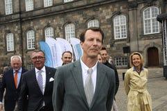 PRINS JOACHIMARRIVES PÅ TROFÉKÖPENHAMNMONTE - CARLO Royaltyfri Fotografi
