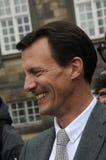 PRINS JOACHIMARRIVES PÅ TROFÉKÖPENHAMNMONTE - CARLO Royaltyfria Foton
