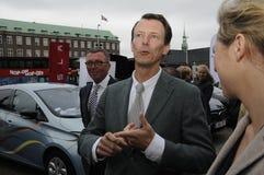 PRINS JOACHIMARRIVES PÅ TROFÉKÖPENHAMNMONTE - CARLO Royaltyfri Bild