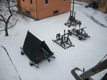 Prins kasteel-vesting in Lutsk-Kasteel van Lubart stock foto's