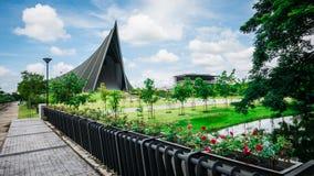 Prins Mahidol Hall De grote zaal als juist trefpunt voor de graduatie ceremon Stock Afbeelding