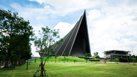 Prins Mahidol Hall De grote zaal als juist trefpunt voor de graduatie ceremon Royalty-vrije Stock Afbeelding