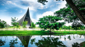 Prins Mahidol Hall De grote zaal als juist trefpunt voor de graduatie ceremon Royalty-vrije Stock Foto