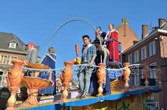 Prins och prinsessa av karnevalet i Nivelles Arkivbilder