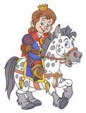 Prins op het paard Stock Afbeelding