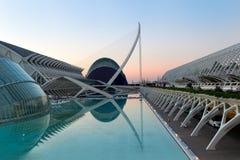 Prins Philip Science Museum och marknadsplats i staden av konster och vetenskaper i Valencia, Spanien royaltyfria bilder