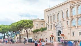 Prins` s Paleis van Monaco timelapse - het is de officiële woonplaats van de Prins van Monaco stock videobeelden