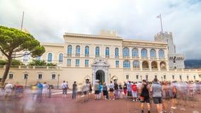 Prins` s Paleis van Monaco timelapse hyperlapse - het is de officiële woonplaats van de Prins van Monaco stock footage