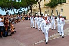 Prins slott av Monaco, ändra av vakten Fotografering för Bildbyråer